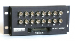Model 609TC Camera Connection Box, Breakout to 16 BNC, Panel Mount