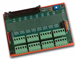 Model 7409TC Breakout Board, 40-pin, with CJ Sensor and Prototype Area
