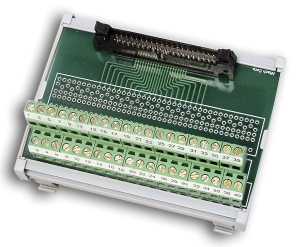 Model 7506TDIN Breakout board, 40-pin, DIN rail mountable